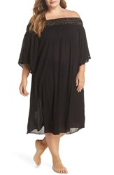 Muche Et Muchette Plus Size Women's Rimini Crochet Cover Up Dress Black