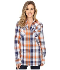 Roper 0189 Relic Plaid Blue Women's Long Sleeve Button Up