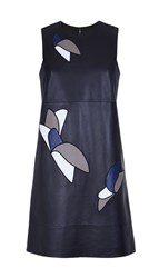 Tibi Leather Applique Dress