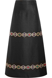 Alessandra Rich Embroidered Quilted Jacquard Maxi Skirt