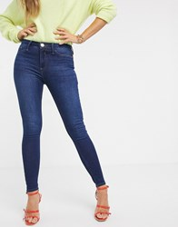 River Island Molly Jeans In Dark Wash Blue