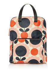 Orla Kiely Scallop Flower Spot Backpack Tote Pink