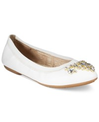 White Mountain Carella Embellished Flats Women's Shoes