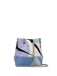 Emilio Pucci Alex Print Mini Bonita Bag Blue
