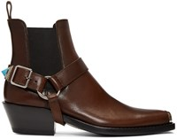 Calvin Klein 205W39nyc Brown Western Harness Boots
