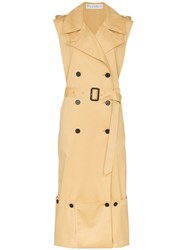 J.W.Anderson Jw Anderson Sleeveless Trench Coat Neutrals