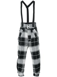 Lost And Found Ria Dunn Suspender Drop Crotch Trousers Men Cotton Linen Flax Polyamide Wool M Black