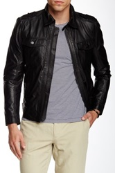 J. Lindeberg Trey Leather Jacket Black