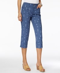Style And Co Printed Capri Pants Only At Macy's Summer Geo
