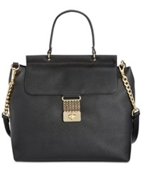 Tommy Hilfiger Lia Chain Saffiano Top Handle Satchel Black