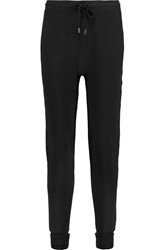 Rag And Bone Leyton Cotton Track Pants Black