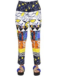 Marina Rinaldi Stella Jean Printed Brushed Cotton Pants