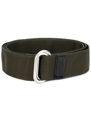 Marni Loop Strap Belt Men Calf Leather Polyamide Polyester Tin M Green