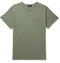 A.P.C. Cotton Jersey T Shirt Army Green