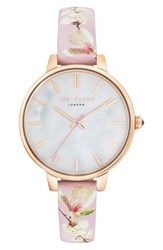 Ted Baker London Kate Leather Strap Watch 36Mm Rose Gold Mop