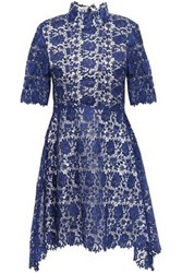 Catherine Deane Woman Jeanne Fluted Guipure Lace Mini Dress Royal Blue