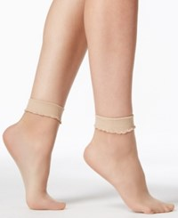 Berkshire Sheer Sheer Ankle Socks Hosiery 6753 Nude