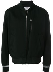 Oamc Zip Pocket Bomber Jacket Black