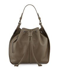 Time's Arrow Lida Urban Leather Bucket Bag Militaire