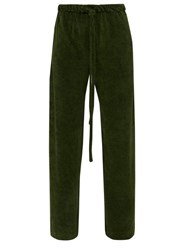 Hecho Cotton Blend Terry Trousers Green