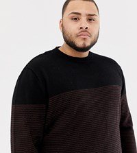 Tom Tailor Plus Colour Block Jumper In Navy