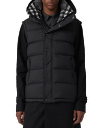 Burberry Hartley Hooded Quilted Jacket Black