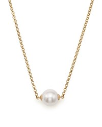 Bloomingdale's Cultured South Sea Pearl Pendant Rolo Chain Necklace In 14K Yellow Gold 18 White Gold