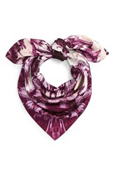 Vince Camuto Women's Cosmic Bloom Square Silk Scarf Hawthorne Rose