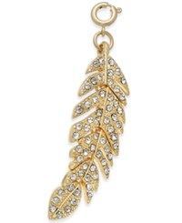 Inc International Concepts Gold Tone Crystal Feather Charm Only At Macy's