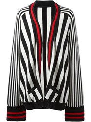 Haider Ackermann Striped Open Cardigan Black