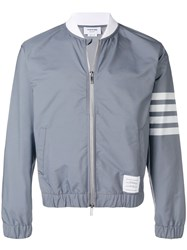 Thom Browne 4 Bar Swim Tech Bomber Grey