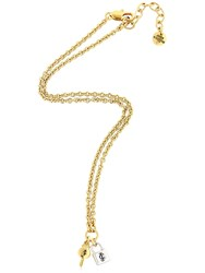 Juicy Couture Lock And Key Charm Necklace