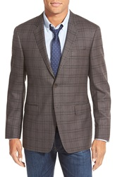 Todd Snyder Trim Fit Plaid Cotton Sport Coat Dark Brown