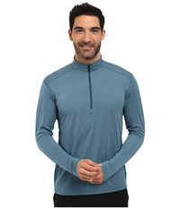Arc'teryx Ether Zip Neck L S Spyglass Men's Clothing Blue
