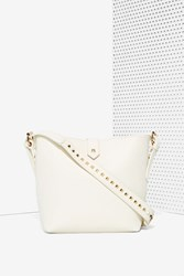 Nasty Gal White Noise Studded Vegan Leather Bag