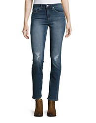 Jessica Simpson Arrow Distressed Straight Leg Jeans Edenite