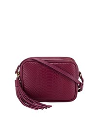 Gigi New York Madison Embossed Python Leather Crossbody Bag Mulberry