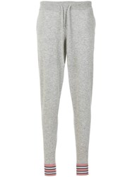 Chinti And Parker Hibiscus Intarsia Track Pants Grey
