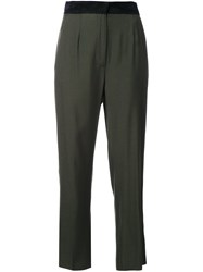 Maison Martin Margiela Mm6 High Waisted Trousers Green