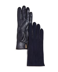 Bloomingdale's Suede Tech Gloves Blue