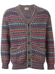 Missoni Vintage Fair Isle Knit Cardigan Multicolour