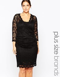 Carmakoma Premium Lace Pencil Dress Black