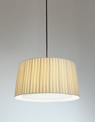 Santa And Cole Gt6 Pendant Lamp Black Natural Red