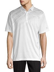 Callaway Pixelated Print Polo Shirt Bright White