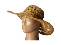 San Diego Hat Company Pbl3068 Open Weave Floppy Hat With Self Tie Tobacco Caps Brown
