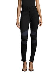 Sandro Paneled Skinny Fit Jeans Black