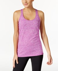 Ideology Rapidry Heathered Racerback Performance Tank Top Only At Macy's Purple Cactus