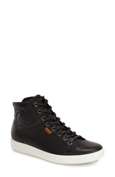 Ecco 'Soft 7' High Top Sneaker Women Black