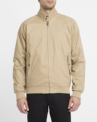 Ben Sherman Beige Buttoned Collar Cotton Jacket