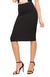 Missguided Women's Ribbed Pencil Skirt